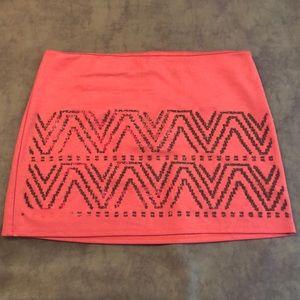Cute Glitter and Beaded Tribal Printed Skirt